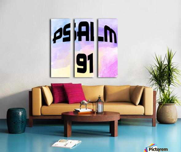 PSALM 91 Split Canvas print