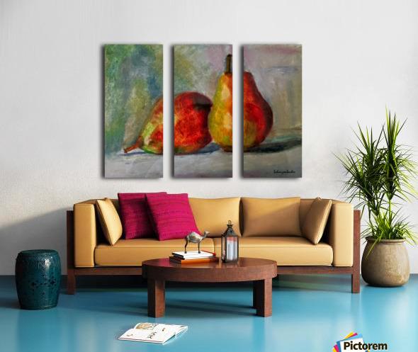 Pears Split Canvas print