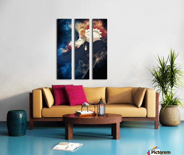 Naruto and Sasuke Split Canvas print