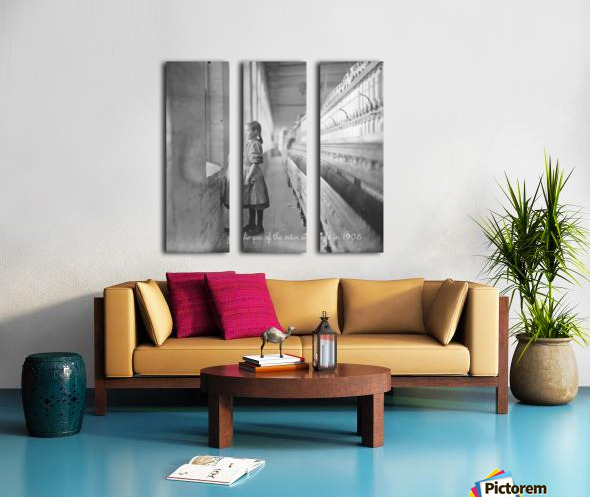 glimpse of the outer world in 1908 Split Canvas print