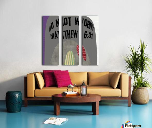 do not worry Split Canvas print
