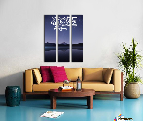 Mountain Top Journey Split Canvas print
