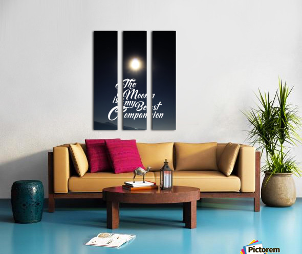 The Moon is Best Companion Split Canvas print
