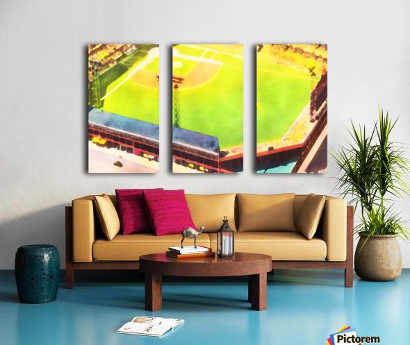 Baseball Ballpark Colorful Art Print Split Canvas print