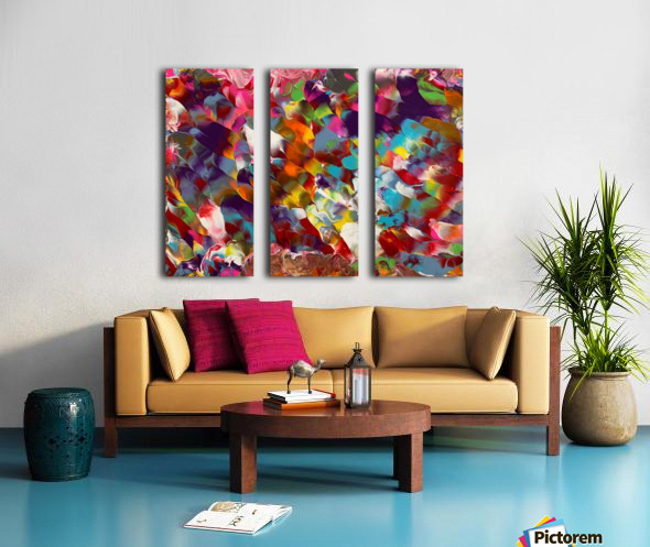 Cosmic Color Split Canvas print