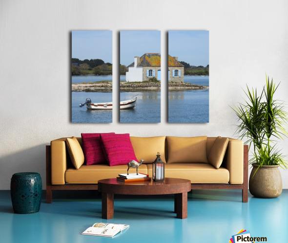 house saint Cado Bretagne Split Canvas print