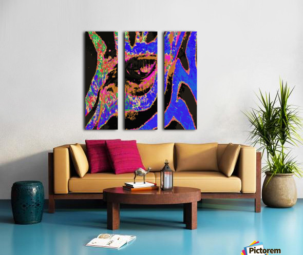 Zebra Eye Split Canvas print