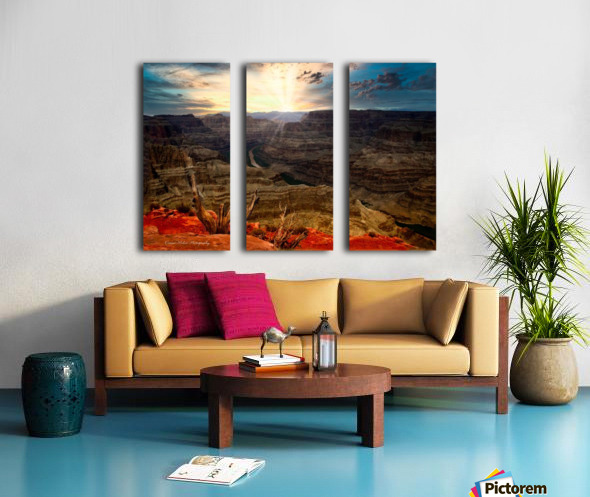 Sunrise over Grand Canyon Split Canvas print