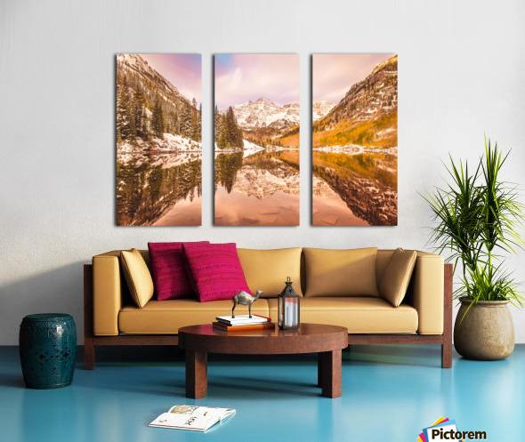 Maroon Bells Fall Split Canvas print