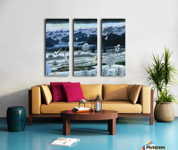 2000 04 Split Canvas print