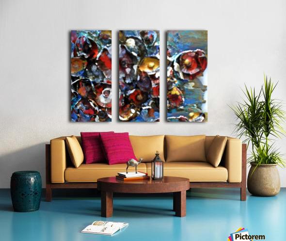 Flowers Mix Split Canvas print