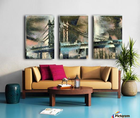 Manhattan Bridge Split Canvas print