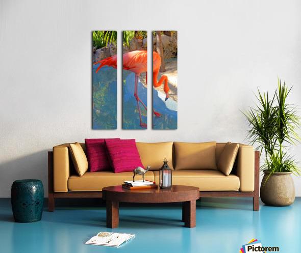 Living in Paradise Split Canvas print