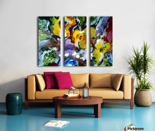 Primary Yellow Split Canvas print