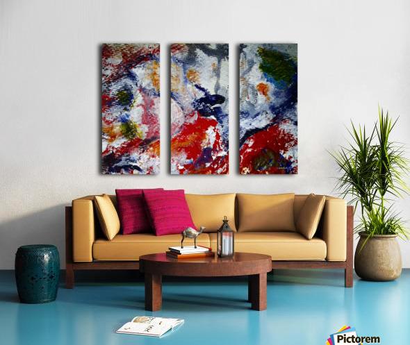 Vibrant Split Canvas print