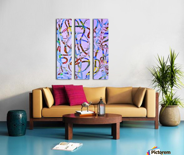 Eccentrics Split Canvas print