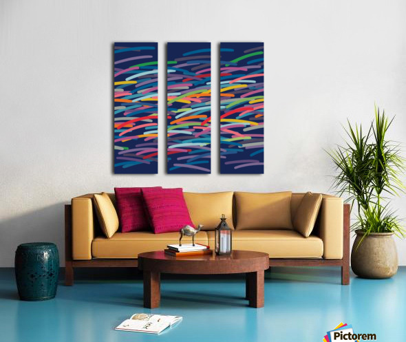 REAL1 Dark blue Background Split Canvas print