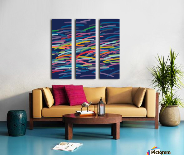 REAL4   Dark blue Background Split Canvas print