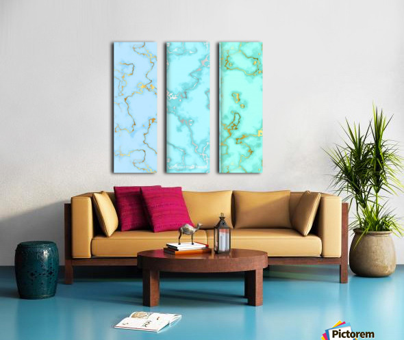 background marble set Split Canvas print