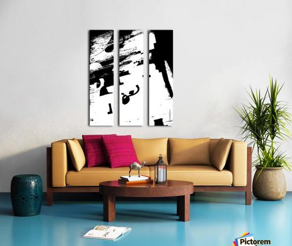 Black & White Form Texture Art D3200 1267 Split Canvas print