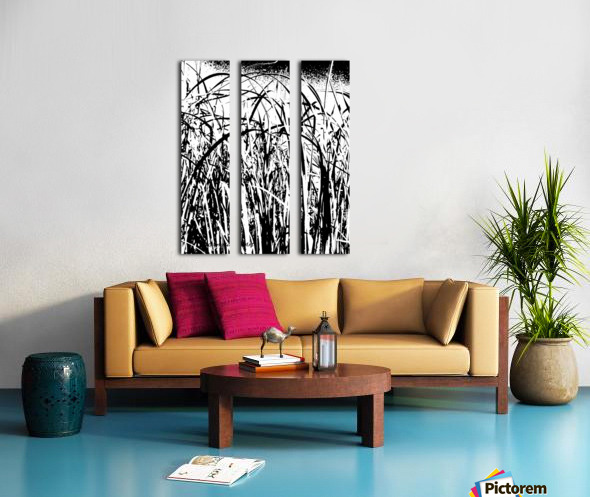 Black & White Nature Texture Split Canvas print