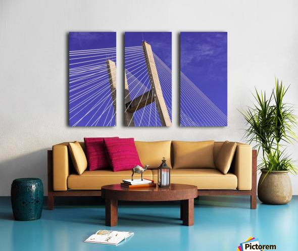 Talmadge Memorial Bridge   Savannah 04212 Split Canvas print