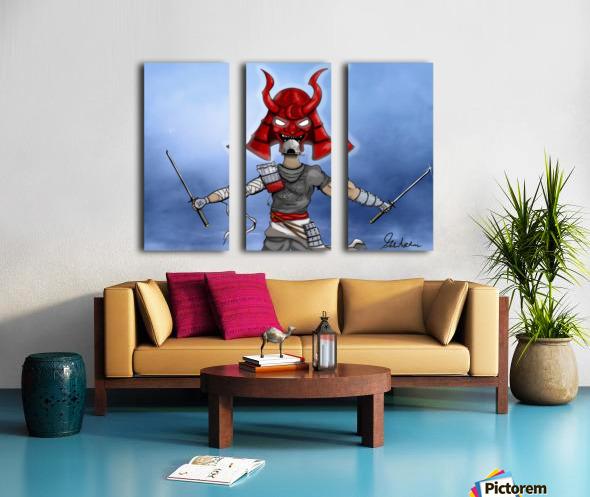 Samurai Split Canvas print