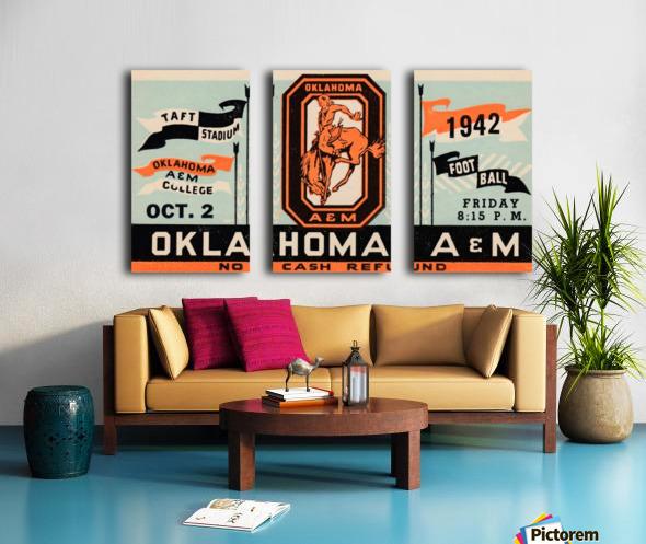 Vintage Oklahoma A&M Art Split Canvas print