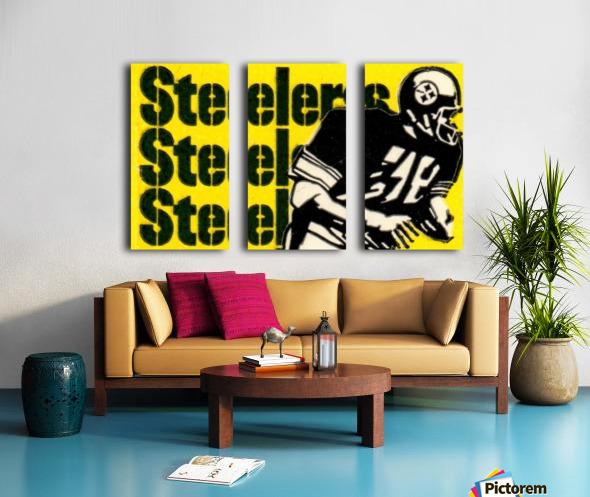 Vintage Pittsburgh Steelers Football Art Reproduction Split Canvas print