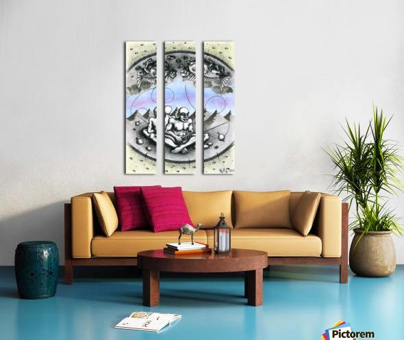 Fish_places Split Canvas print