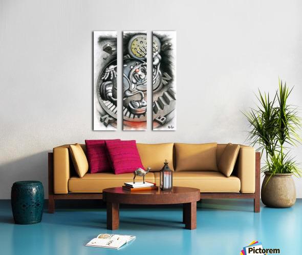 Run Split Canvas print