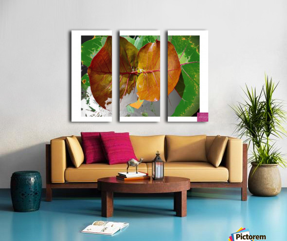 Tropical Tan Leaves Split Canvas print
