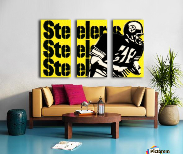 Row One Brand Vintage Pittsburgh Steelers Football Art Print Art Reproduction (1974) Split Canvas print