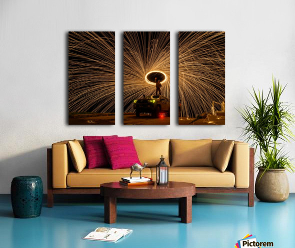 Hes on fire Split Canvas print