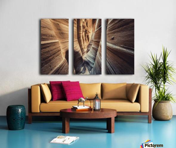 Zebra Slot Canyon II Split Canvas print