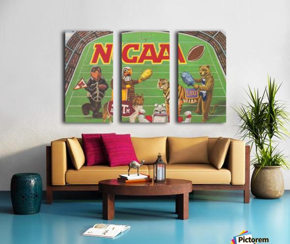 1984 NCAA Football Ad Reproduction_Vintage Sports Ads_Retro Sports Advertisement Split Canvas print