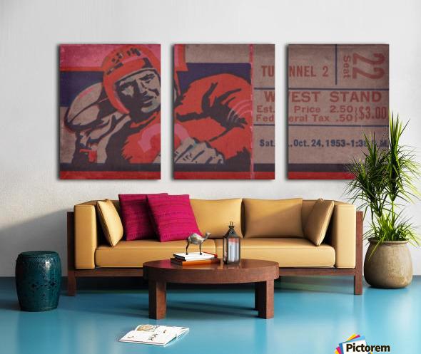 Vintage Football Art_Ticket Stub Reproduction Prints Split Canvas print