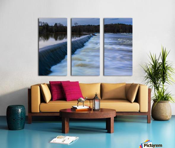 Savannah River Rapids in Columbia County   Augusta GA 6254 Split Canvas print