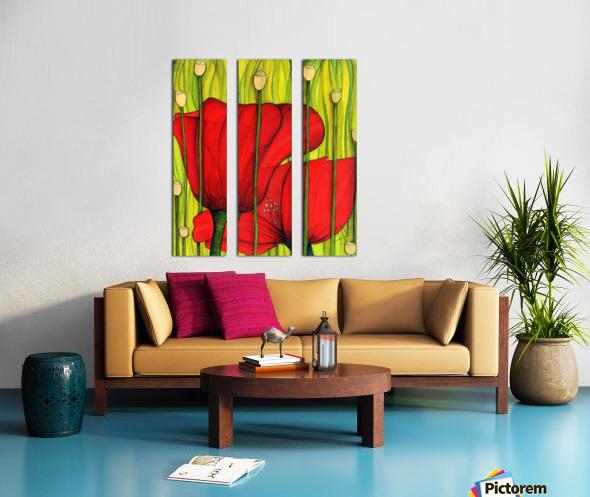 Coastal poppies Split Canvas print