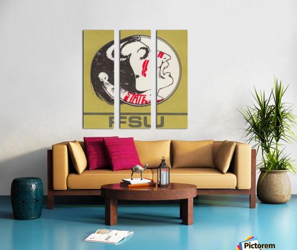 Vintage FSU Florida State University Seminoles Art_Ticket Stub Art Reproduction Print Split Canvas print