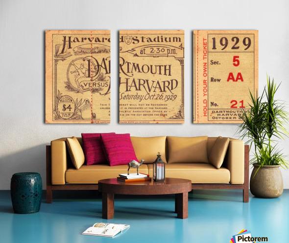 1929 Dartmouth vs. Harvard Split Canvas print