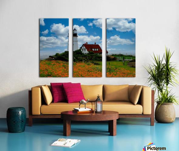 Maine Lighthouse Split Canvas print