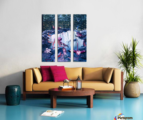 1987 026 Split Canvas print