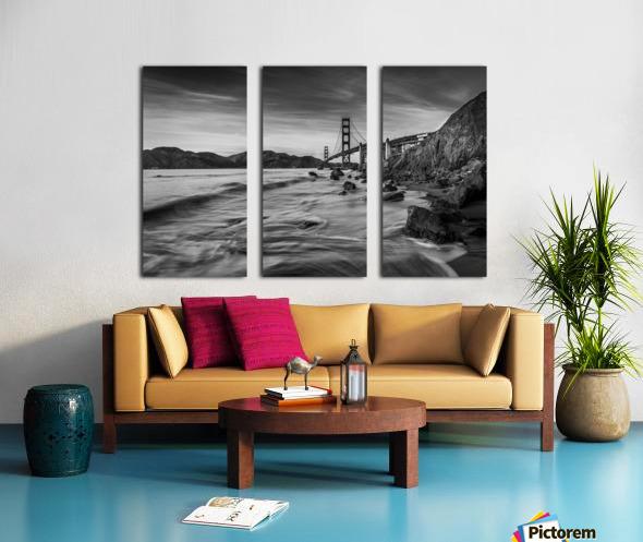 B&W Golden Gate Sunset Split Canvas print