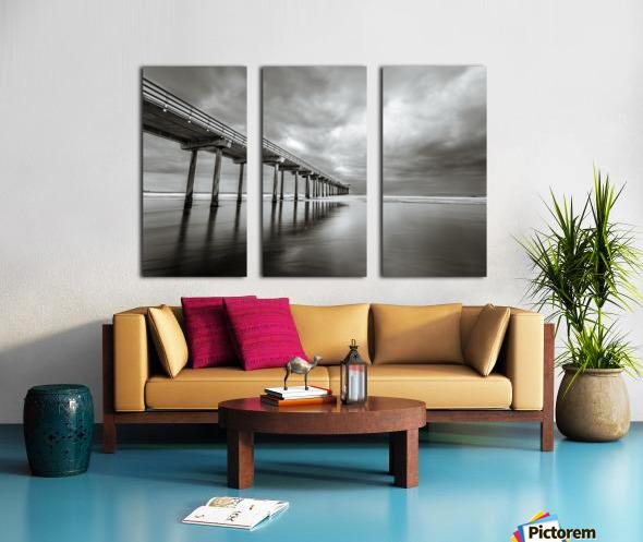 B&W Scripps Pier San Diego Split Canvas print