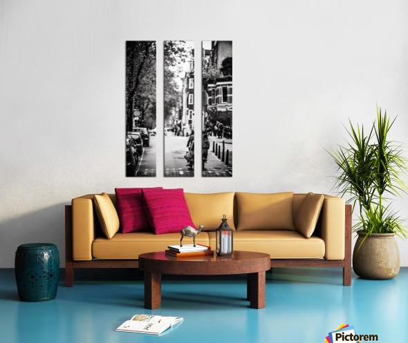 Raining in Amsterdam Split Canvas print