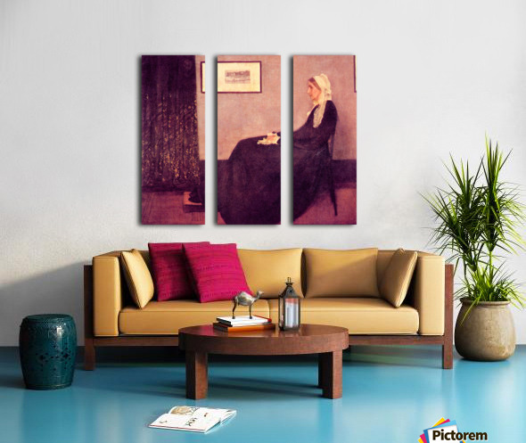 Whistlers Mother by James Abbot McNeill Whistler Split Canvas print