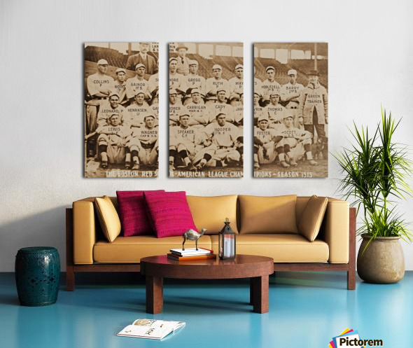 1915 Boston Red Sox Team Photo Split Canvas print