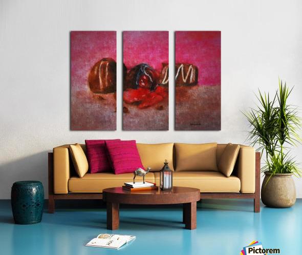 Chocolate Candy Split Canvas print