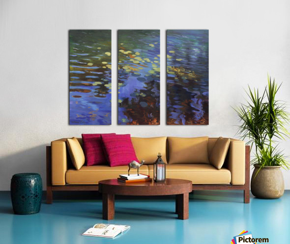 Waterlilies Split Canvas print